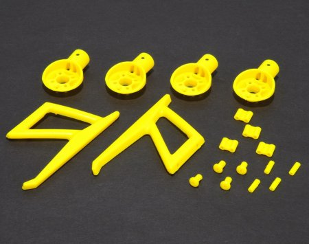 MR200 Motor Mounts and Parts set (Yellow)